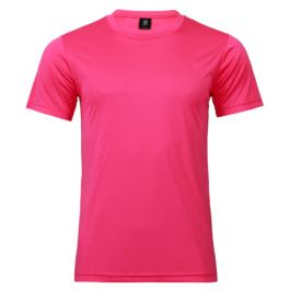 50D輕柔布-排汗T恤-A11洋紅