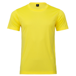 50D輕柔布-排汗T恤-A13黃
