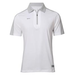3M反光拉鍊POLO衫-男 (白色/灰領)