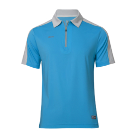 3M反光拉鍊POLO衫-男 (天藍色/灰領)