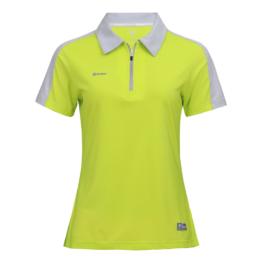 3M反光拉鍊POLO衫-女 (果綠色/灰領)