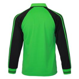 三合一機能POLO衫-男 (長袖/翠綠色/黑斜袖)