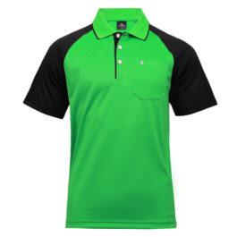 三合一機能POLO衫-男 (翠綠色/黑斜袖)