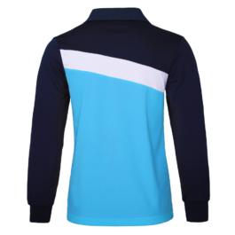 三合一機能POLO衫-男-長袖-天藍