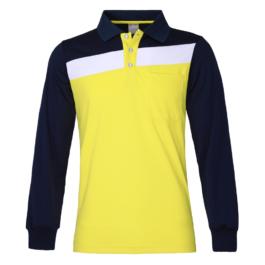 三合一機能POLO衫-男-長袖-鵝黃