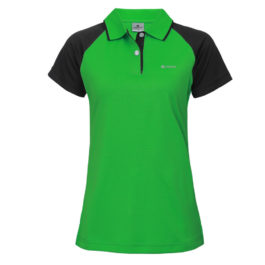三合一機能POLO衫-女 (翠綠色/黑斜袖)