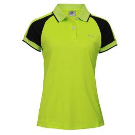 三合一機能POLO衫-女 (果綠色/黑斜袖)