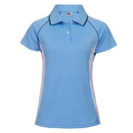 三合一機能POLO衫-女 (水藍色/白腰身)