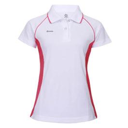 三合一機能POLO衫-女 (白色/洋紅腰身)